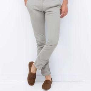 ZARA Gray Textured Chino Pants